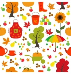 Seamless Autumn pattern background Set design vector image vector image
