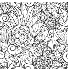 seamless herbal pattern vector image