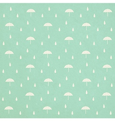 seamless raindrops pattern with umbrella on paper vector image vector image