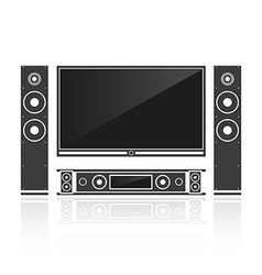 Silhouette home cinema vector image