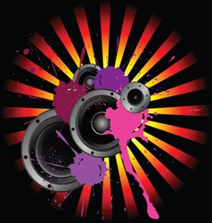 speakers and sound vector image vector image