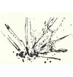 Splatter Black Ink Background vector image vector image