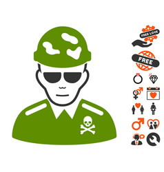 Swat soldier icon with lovely bonus vector