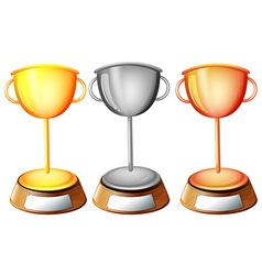 Three trophies vector