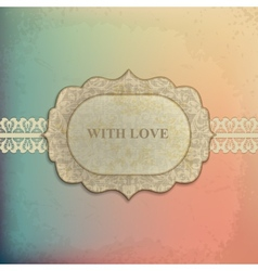 Vintage label with design elements vector image vector image