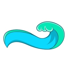 High sea wave icon cartoon style vector
