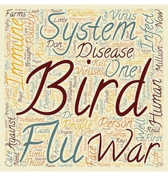 The bird flu and the immune system don t leave vector