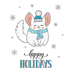 Cute holidays greeting card vector