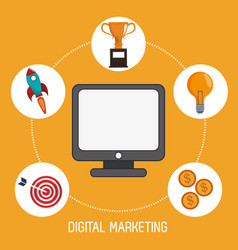 Digital marketing management production image vector