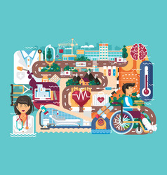 Medicine health care of vector