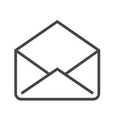 Mail thin line icon vector