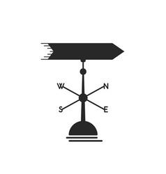 black weather vane icon vector image