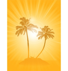 Palm tree silhouette background vector