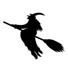 Silhouette of a witch vector