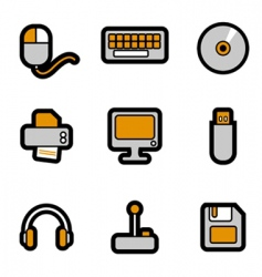 computer objects icon vector image