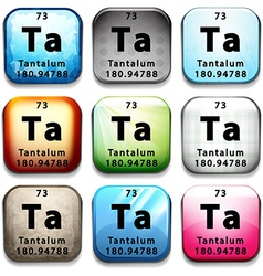 The chemical element tantalum vector