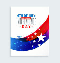 4th of july american independence day vector image vector image