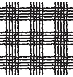 Black and white geometric stripe seamless pattern vector