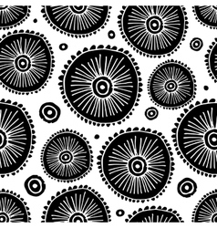 Abstract circle seamless pattern for your design vector