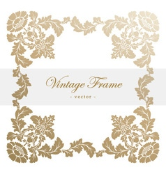 Vintage antique frame with floral ornament vector