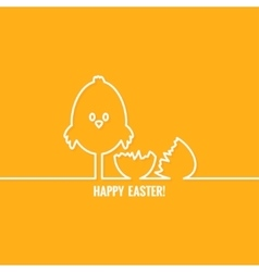 Easter abstract line background vector