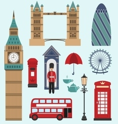 Londonunited kingdom flat icons vector