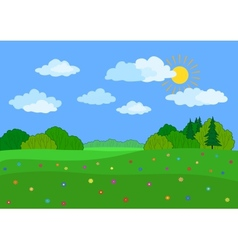 Landscape summer day vector