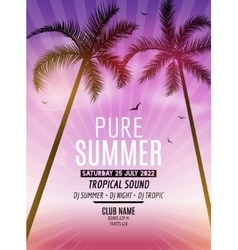 Tropic summer beach party tropic summer vacation vector
