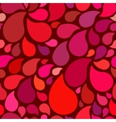 Red seamless pattern with drops vector