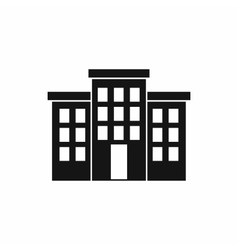 Building icon simple style vector
