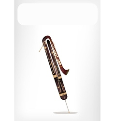 A classical contrabassoon with a white banner vector