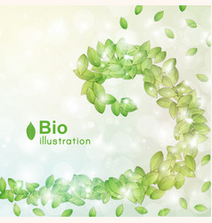 Abstract bio background vector