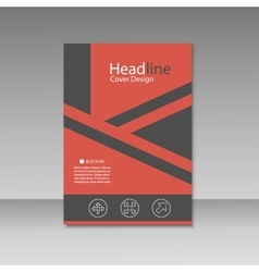 Abstract triangle line brochure cover design A4 vector image