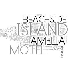 Amelia island inn text word cloud concept vector