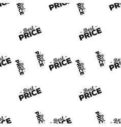 Best price seamless pattern black stamp vector