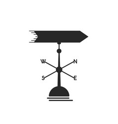 Black weather vane icon vector