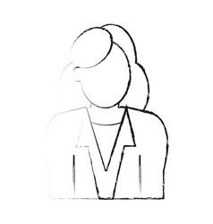 Blurred silhouette half body faceless woman with vector