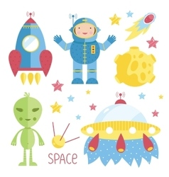Cartoon about space vector image