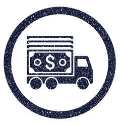 Cash lorry rounded grainy icon vector