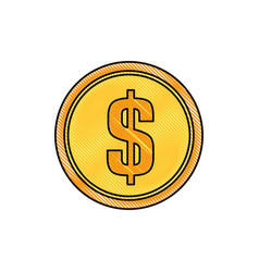 Coin money symbol vector