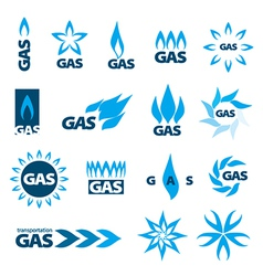 Collection of logos of natural gas vector