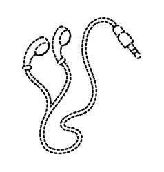 Earphones plug multimedia music cable vector