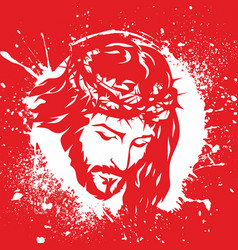 Face of jesus christ vector