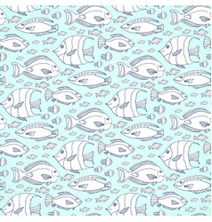 fishes pattern hand drawn sea life seamless vector image