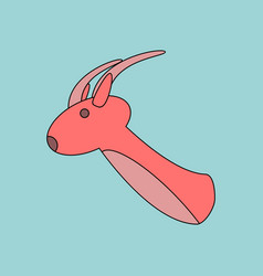 Flat icon design collection deer head vector