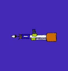 Flat shading style icon machine gun bullet shot vector