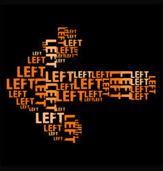 Left orange vector