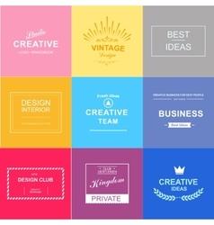 Logo set design elements vector image