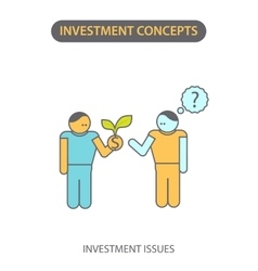 Modern flat line icon design concept of investment vector