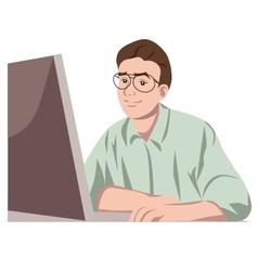 Modern man - the computer hero vector